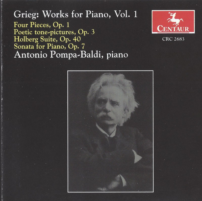 CRC 2683 Grieg: Works for Piano, Vol. 1.  Four Pieces, Op. 1