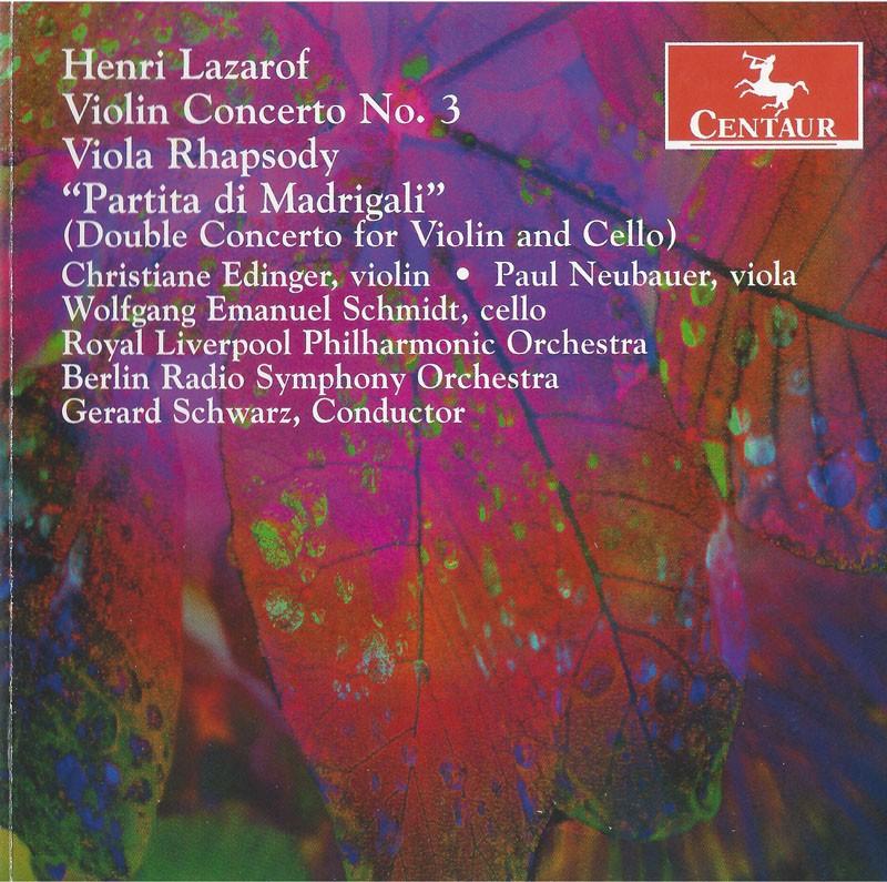 CRC 2735 Henri Lazarof:  Violin Concerto No. 3
