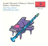 CRC 2165 Works for Clarinet and Piano by Saint-Saëns, Martinu, Arnold,   Bernstein, and Poulenc