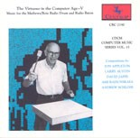 "CRC 2190 CDCM Computer Music Series, Volume 15 ""The Virtuoso in the Computer Age--V."""