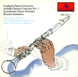 CRC 2212 Copland:  Concerto for clarinet, strings, harp and piano