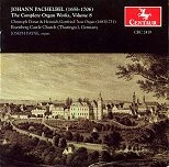 CRC 2419 Johann Pachelbel: The Complete Organ Works, Volume 8