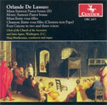 CRC 2477 Orlande De Lassus: Liturgical Choral Works.  Motet: Surrexit Pastor bonus