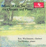 CRC 2587 Music of Les Six for Clarinet and Piano.