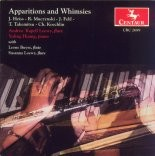 CRC 2689 Apparitions and Whimsies.  John Heiss: Apparations for Flute and Piano with Electronic Sound by Frank Heiss