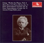 CRC 2746 Grieg:  Works for Piano, Vol. 4.  Three Pieces for Piano (Wild Dance