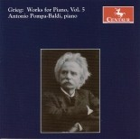 CRC 2800 Grieg: Works for Piano, Vol. 5. 25 Norwegian Folk-Songs and Dances, Op. 17