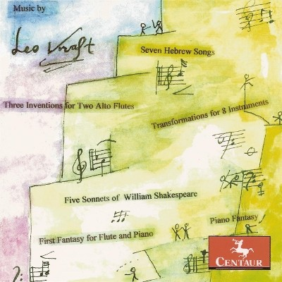 CRC 2937 Music of Leo Kraft.  Five Sonnets of William Shakespeare