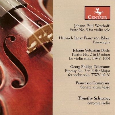 CRC 3057 Johann Paul Westhoff:  Suite No. 5 for violin solo