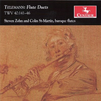 CRC 3102 Telemann:  Flute Duets, TWV 40-141-46.  Steven Zohn and Colin St-Martin, baroque flutes