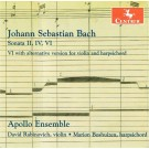 CRC 3372: J.S. Bach:  Sonatas for violin and harpsichord