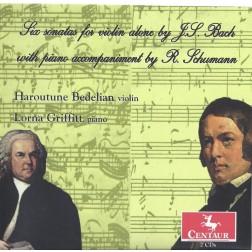 CRC 2904/2905 Bach - Schumann:  Sonatas and Partitas (complete).   The Bach sonatas and partitas for solo violin with piano accompaniments by Robert Schumann
