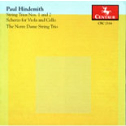 CRC 2314 Paul Hindemith:  Trio Nos. 1 and 2 for Violin, Viola and Cello