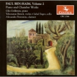 CRC 2766 Paul Ben-Haim, Volume 2.  Piano and Chamber Works.  Music for Piano 1957, Op. 53