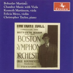 CRC 2852 Bohuslav Martinu:  Chamber Music with Viola.  Three Madrigals for Violin and Viola, H. 313