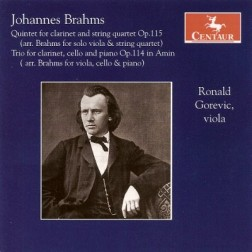CRC 3051 Johannes Brahms:  Quintet for Clarinet and String Quartet, Op. 115 (arr. Brahms for solo viola & string quartet)