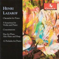 CRC 3133 Henri Lazarof:  Chronicles for Piano