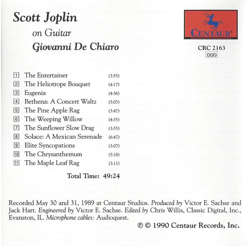 Scott Joplin on Guitar  The Entertainer